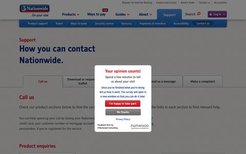 Screenshot of Contact Page nationwide.co.uk - Call Us | Contact Us | Nationwide - captured Nov. 2, 2015