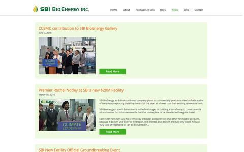 Screenshot of Press Page sbibioenergy.com - sbibioenergy | News - captured Nov. 17, 2016