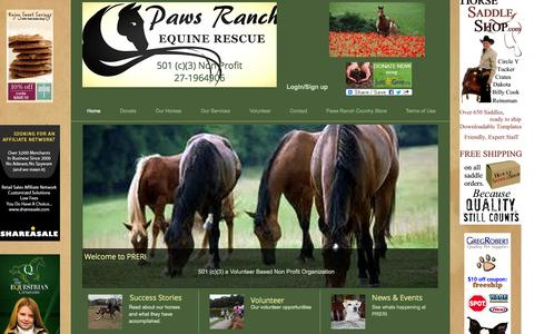 Screenshot of Home Page pawsranch.org - pawsranch - captured Jan. 23, 2015