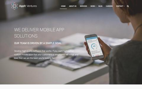 Screenshot of Home Page appitventures.com - AppIt Ventures | Denver Mobile Apps | Denver Mobile App Development - captured Feb. 7, 2016