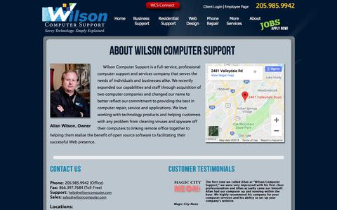 Screenshot of About Page wilsoncomputer.com - Computer Repair, Virus Removal, Web Design - captured Aug. 10, 2019