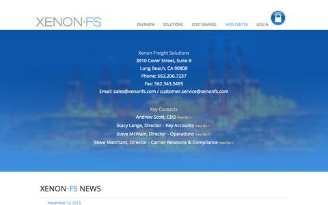 Screenshot of Press Page xenonfs.com - CONTACT US - captured Nov. 5, 2014