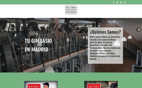 Screenshot of Home Page retirosportfitness.com - Gimnasio Retiro Sport Fitness. Tu Gimnasio en Madrid. - captured May 29, 2019
