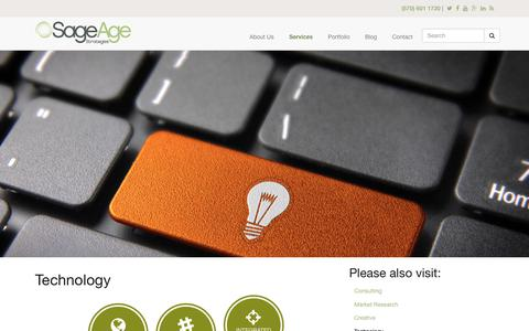 Screenshot of sageagestrategies.com - Technology | Sage Age Strategies - captured June 23, 2017