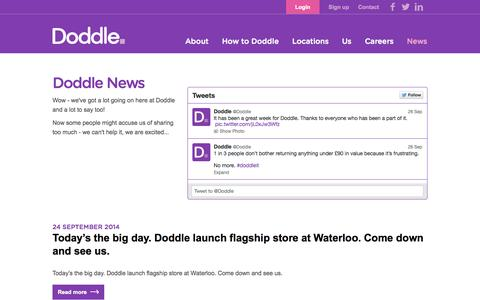 Screenshot of Press Page doddle.it - Doddle - captured Sept. 25, 2014