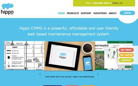 Screenshot of Jobs Page hippofm.com - Home | Hippo CMMS | cmms maintenance software | content management - captured July 4, 2015
