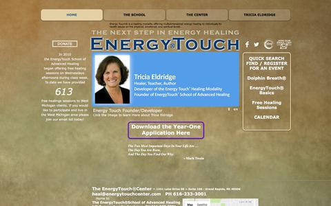 Screenshot of Home Page energytouchschool.com - The Energy Touch School | Energy Healing | Grand Rapids, MI, USA - captured Nov. 8, 2016