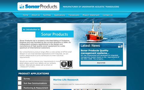 Screenshot of Home Page sonar.co.uk - Sonar Products Ltd - captured Nov. 6, 2017