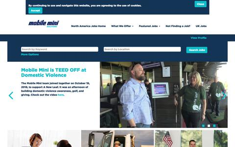 Screenshot of Jobs Page mobilemini.com - Jobs at Mobile Mini - captured July 6, 2019