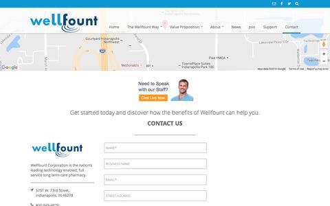 Screenshot of Contact Page wellfount.com - Contact Wellfount - Wellfount & TED Rx Wellfount & TED Rx - captured Nov. 29, 2016