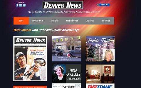 Screenshot of Home Page denver-news.online - DENVER NEWS   Denver's Best News Source - captured March 12, 2016