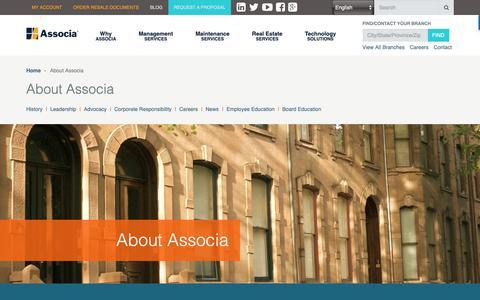 Screenshot of About Page associaonline.com - About Associa | Our Company | Associa - captured Nov. 1, 2018