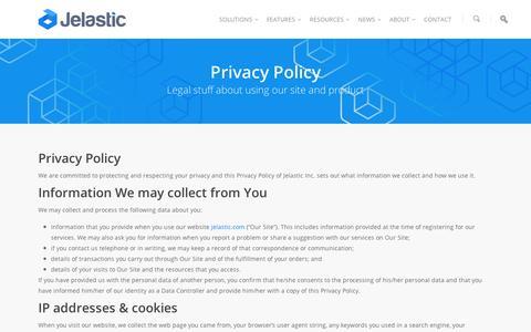 Screenshot of Privacy Page jelastic.com - Jelastic Privacy Policy | Jelastic - captured Sept. 11, 2014