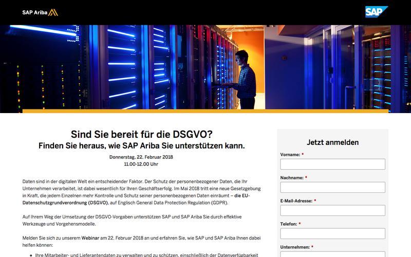 DSGVO Webinar | SAP Ariba