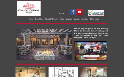 Screenshot of Home Page completecustomhomes.com - Complete Custom Homes - captured Sept. 30, 2014