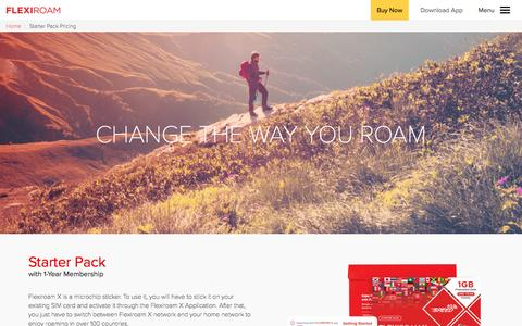 Screenshot of Pricing Page flexiroam.com - Flexiroam - captured March 2, 2017