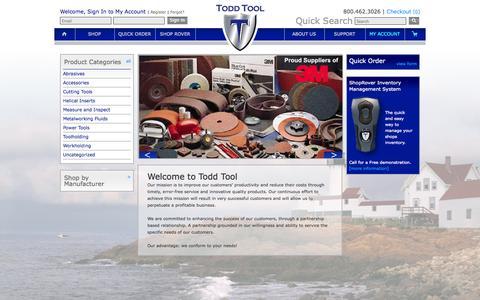 Screenshot of Site Map Page toddtool.com - Todd Tool - captured Oct. 7, 2014