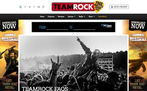 Screenshot of FAQ Page teamrock.com - TeamRock - captured Nov. 23, 2015