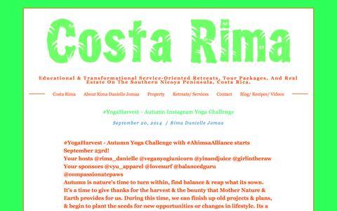 Screenshot of Blog costarima.com - Blog — Costa Rima - captured Sept. 30, 2014