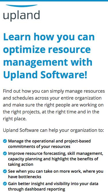 Learn how you can optimize resource management with Upland Software!