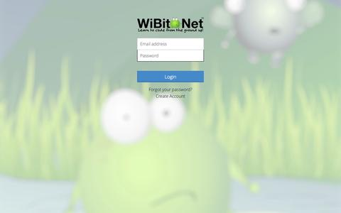 Screenshot of Login Page wibit.net - WiBit.Net :: Learn to code from the ground up! - captured Nov. 4, 2014