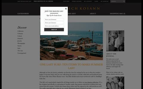 Screenshot of Blog monicarichkosann.com - Monica Rich Kosann  | Just another WordPress site - captured Oct. 1, 2014