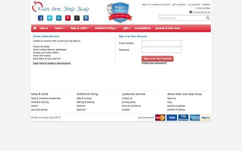 Screenshot of Login Page kidsonestopshop.co.uk - Kids One Stop Shop - Sign in - captured Oct. 6, 2014