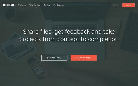 Share files and collaborate on creative projects | Hightail