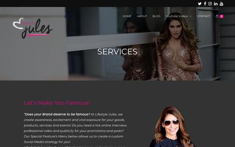 Screenshot of Services Page lifestylejules.com - Brand Promotion and Awareness by Lifestyle Jules - captured July 9, 2018