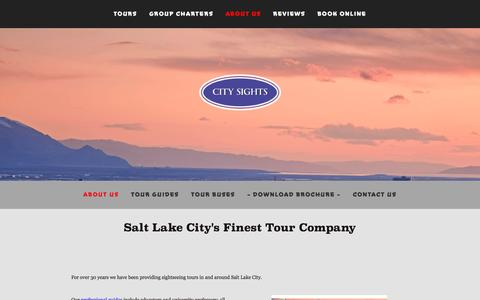 Screenshot of About Page toursofutah.com - ABOUT US — Sightseeing Bus Tours in Salt Lake City - captured March 14, 2016