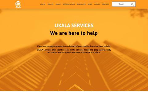 Screenshot of Services Page ukala.org.uk - UKALA SERVICES | UKALA - captured July 26, 2018