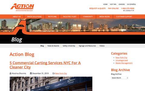 Screenshot of Blog actioncarting.com - Blog | Action Carting - captured Jan. 9, 2020