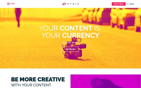 Screenshot of Services Page vydia.com - Video Content Marketing Solutions - Our Services | Vydia - captured March 13, 2017