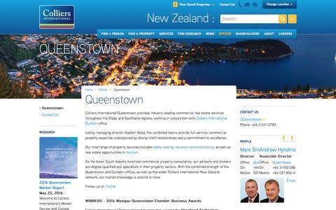 Queenstown Office | New Zealand | Colliers International