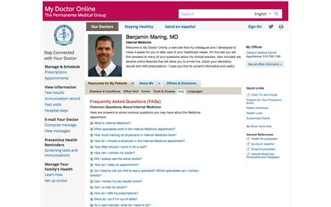 Frequently Asked Questions (FAQs) |  benjaminmaring | Clinician | My Doctor Online