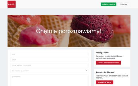 Screenshot of Contact Page zomato.com - Skontaktuj się z nami   Zomato - captured Aug. 19, 2016