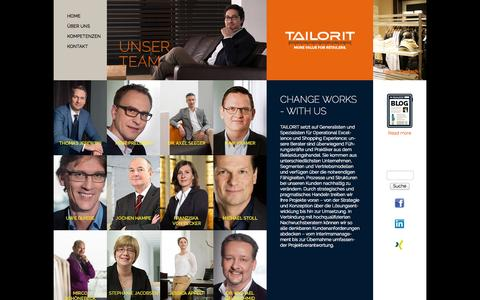 Screenshot of Team Page tailorit.de - Unser Team | TAILORIT | MORE VALUE FOR RETAILERS - captured Oct. 27, 2014