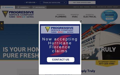 Screenshot of Blog callprogressive.com - Raleigh Home Improvement Tips | Plumbing Company - captured Sept. 30, 2018