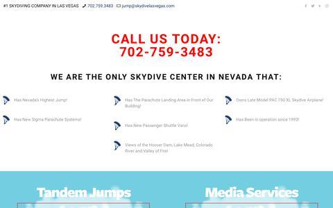 Screenshot of Pricing Page skydivelasvegas.com - PRICING – Skydive Las Vegas - captured Oct. 20, 2018