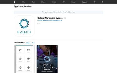 Oxford Nanopore Events on the AppStore