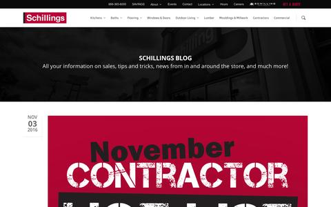 Screenshot of Blog schillings.com - Blog - Schillings - captured Nov. 19, 2016