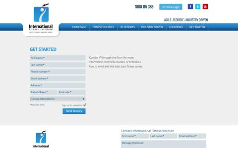 Screenshot of Contact Page ifilearn.co - IFI: Get Started - captured Oct. 6, 2014