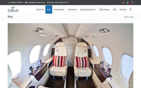 Screenshot of Blog cielo-aviation.com - Blog | Cielo Aviation - captured May 17, 2017