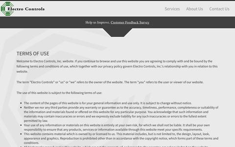 Screenshot of Terms Page electro-controls.com - Electro Controls - captured Sept. 29, 2014