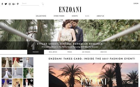 Screenshot of Blog enzoani.com - Enzoani Insider blog | Enzoani - captured July 14, 2017