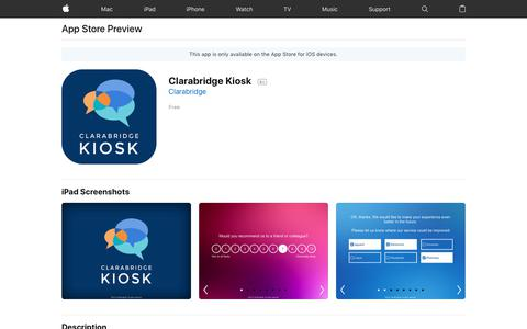 Clarabridge Kiosk on the App Store