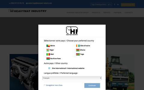 Screenshot of Services Page heavymat-industry.com - ...::: Heavymat Industry :::... - captured July 11, 2017