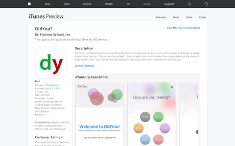 DidYou? on the App Store