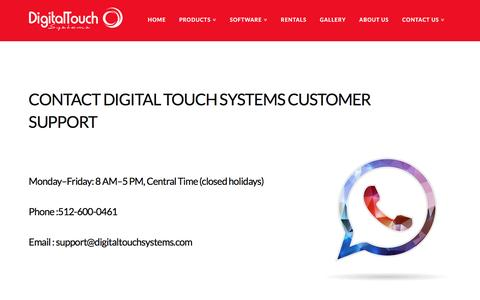 Screenshot of Support Page digitaltouchsystems.com - Support - Digital Touch Systems - captured Nov. 24, 2016