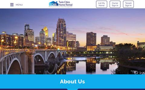 Screenshot of About Page twincitieshomerental.com - About TCHR | Twin Cities Home Rental - captured Sept. 21, 2018